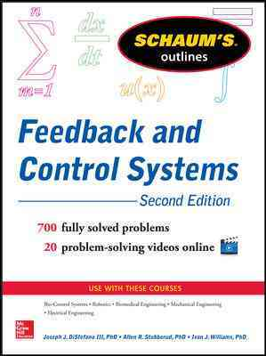 Schaum's Outline of Feedback and Control Systems By Distefano, Joseph